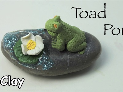 How to shape a Frog in a Pond - Diy polymer clay paperweight