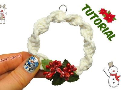 Macrame Christmas Wreath ♥ DIY ♥