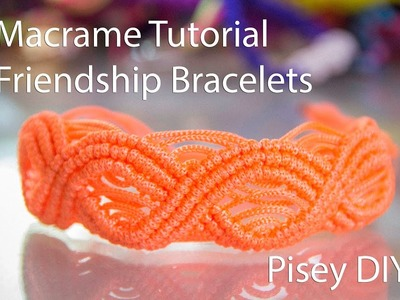 Macramé DIY Eternal Waves Macrame Tutorial.Friendship Bracelets. Projects
