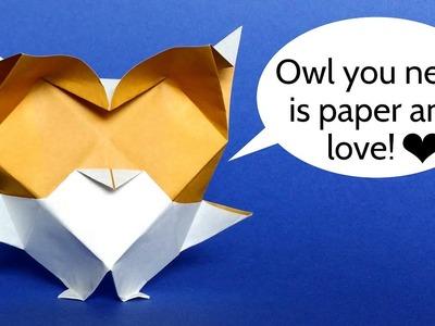 Origami Baby Owl. Snow Owl - Easy DIY Tutorial