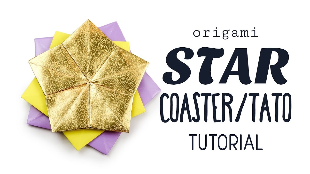 Origami Star Coaster. Tato Tutorial ⭐️ DIY ⭐️ Paper Kawaii ⭐️