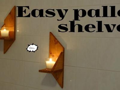 Pallet wood shelves - short film diy
