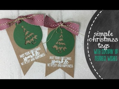 Quick & Cute DIY Christmas Tags  with Merriest Wishes