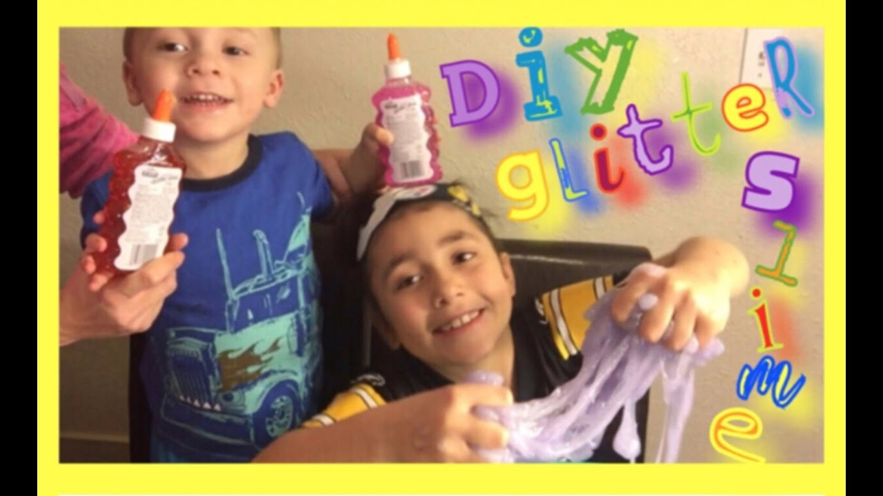 SUPER EASY DIY GLITTER SLIME!!!!!!!