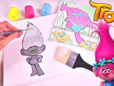 Trolls Movie Artwork   DIY Troll Painting Dreamworks Poppy