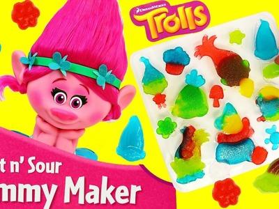 Trolls Movie Poppy DIY Candy Maker with Gummy Branch and DJ Suki Treats DIY Kids Fun DisneyCarToys