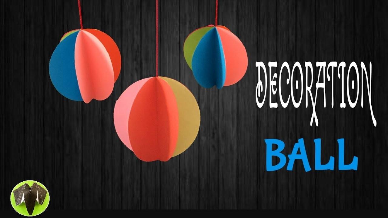 "Tutorial to make ""Hanging ball decoration"" for Christmas tree - DIY | Handmade"