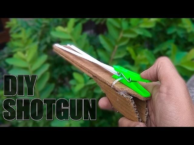 wood cardboard shotgun powerful gun that shoot how to