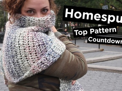 5 Most Popular Homespun® Knit & Crochet Patterns