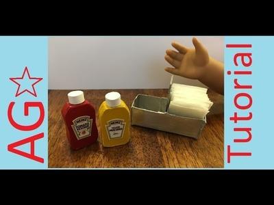 American Girl Doll Diner Caddy Tutorial DIY Kid Craft