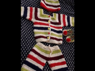 CROCHET BABY FULL SLEEVE SWEATER-A