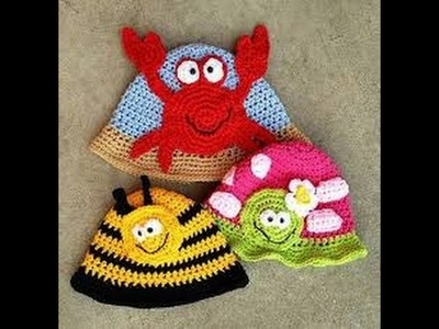 Crochet Baby Hat  and Beret Tutorial Example