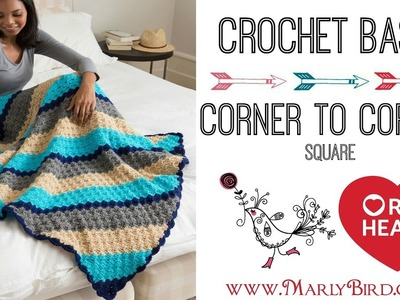 Crochet Corner to Corner Square in Half Double Crochet