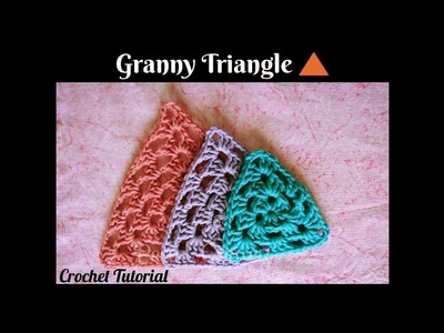 Crochet Made Easy - How to make a Granny Triangle (Tutorial) ♥ Pearl Gomez ♥