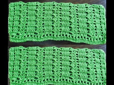 Crochet Pattern - Simple zigzag crochet stitch