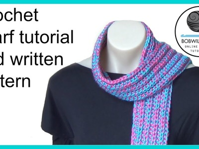 Crochet scarf tutorial promotional video