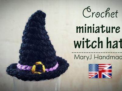 Crochet tutorial: miniature witch hat