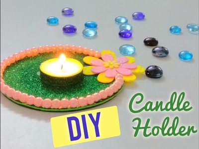DIY CANDLE HOLDER USING RECYCLED CD | How to make CandleHolder | Craftziners # 33