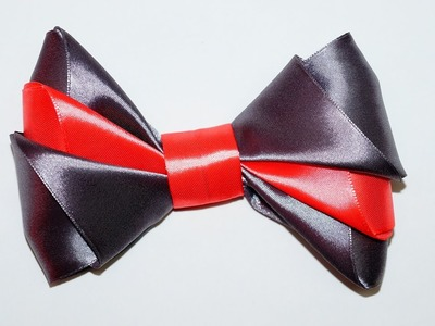 DIY easy. DIY crafts. DIY Ribbon BOW. How to make a bow out of ribbon. DIY beauty and easy