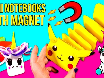 DIY MINI NOTEBOOKS with MAGNET