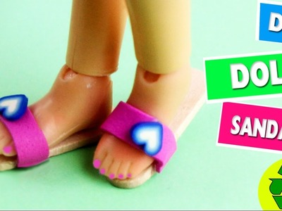 DIY Miniature Doll Sandals. Shoes - 5 minute craft