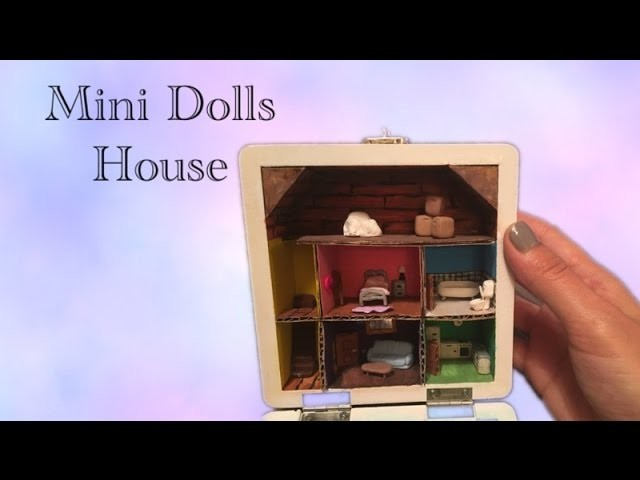 DIY Miniature Dolls house in a box with polymer clay - tutorial