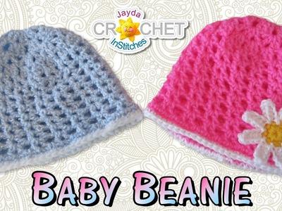 Easy Crochet Baby Beanie