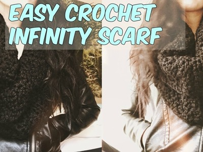 EASY CROCHET RIBBED INFINITY SCARF