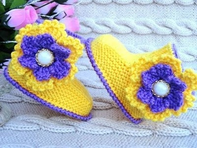 Easy to knit Baby Booties Crochet cute