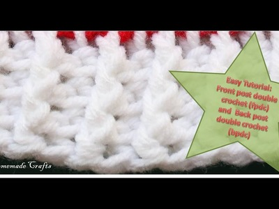 Easy Tutorial: How to do the front post double crochet (fpdc) and back post double crochet (bpdc)