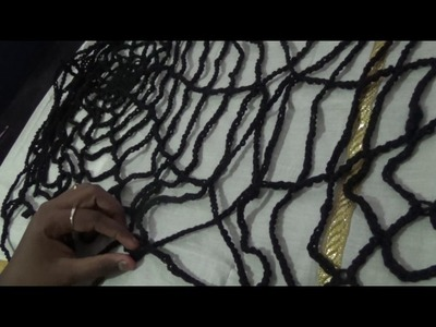 Halloween Crochet - Spooky Spider web poncho in English