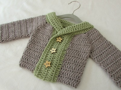 How to crochet a baby. children's chunky winter sweater