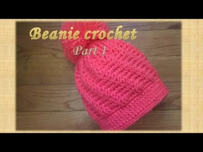 How to Crochet A Hat: Stepping Texture Hat.Part 1