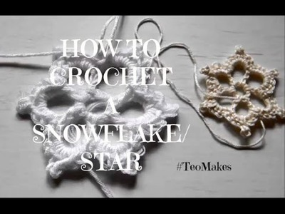 HOW TO CROCHET a snowflake.star.Christmas Decoration