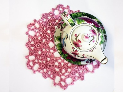 How to  Crochet Coaster Lace Flower Coaster