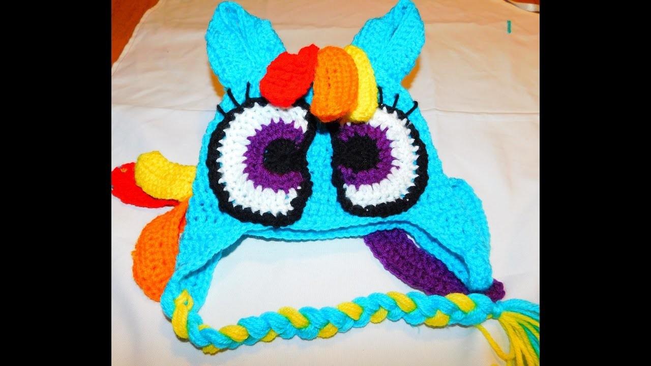 How to crochet my little pony rainbow dash inspired beanie PART2