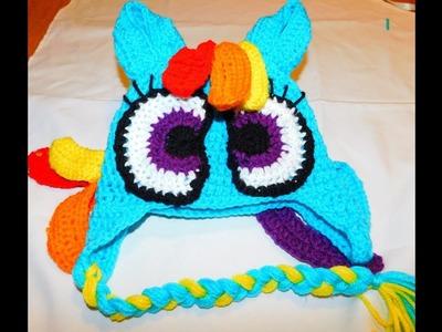 How to crochet My little pony Rainbow dash inspired Beanie PART3