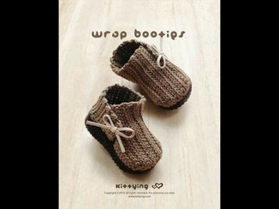 How to crochet simple baby booties p2