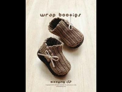 How to crochet simple baby booties p1