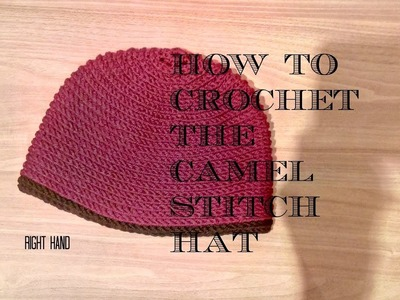 How to crochet the camel stitch hat RIGHT HAND