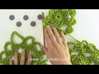 How to crochet triangle in DROPS 94-7