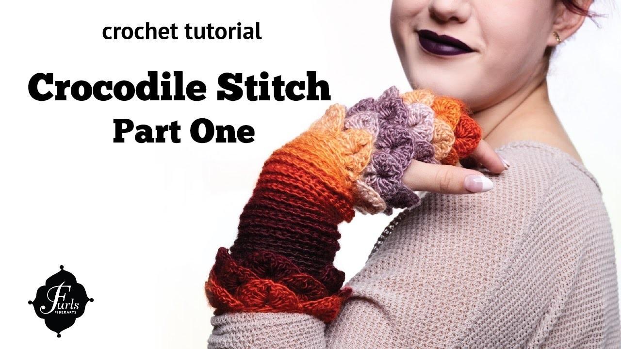 How to Crochet Tutorial: Crocodile Stitch, Part 1