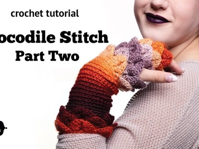 How to Crochet Tutorial: Crocodile Stitch, Part 2