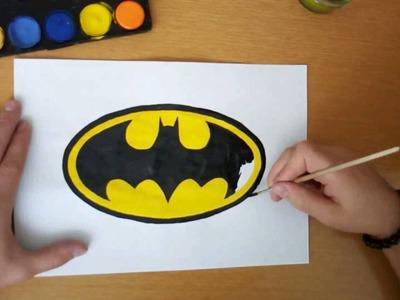 How to draw the classic Batman logo