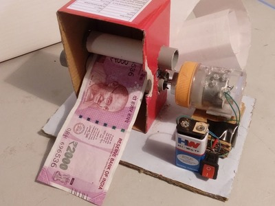 How to Make a Electric Money Printer - DIY Magic Trick