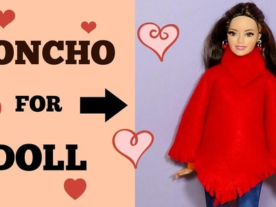 How to make a poncho for doll  DIY For Dolls Poncho