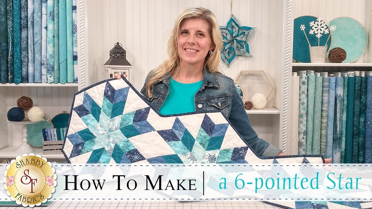 How to Make a Snowflake Table Runner (6-Pointed Star) | with Jennifer Bosworth of Shabby Fabrics