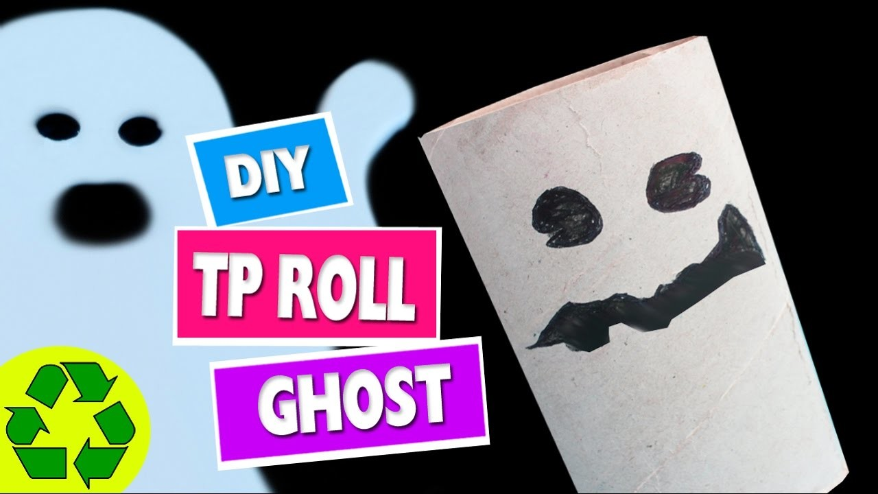 How to Make a Toilet Paper Roll Ghost -  Toilet Paper Roll Crafts