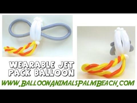 How To Make A Wearabe Jet Pack Balloon - Balloon Animals Palm Beach