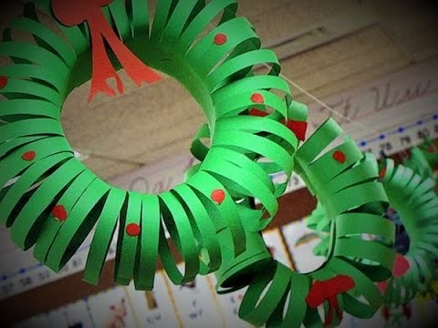 How to make paper christmas wreath - DIY Christmas decorations